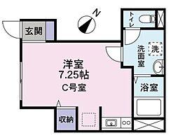 東京都品川区大崎4丁目の賃貸アパートの間取り