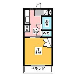 マンション富士見台[1階]の間取り