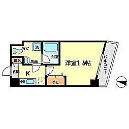 ベルファース江坂[2階]の間取り