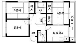 松山ハイツ[401号室]の間取り