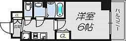 大阪府大阪市西区北堀江4-の賃貸マンションの間取り