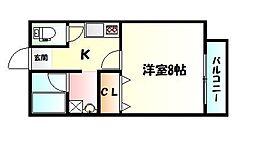 仙台市営南北線 長町南駅 徒歩15分の賃貸アパート 1階1Kの間取り
