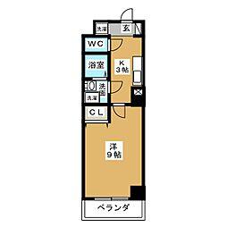 ヴァンキッシュ[6階]の間取り