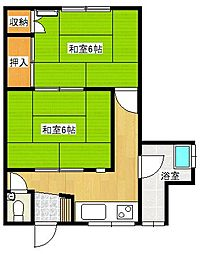 [一戸建] 鳥取県米子市河崎 の賃貸【/】の間取り
