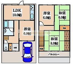 [一戸建] 大阪府堺市中区辻之 の賃貸【/】の間取り