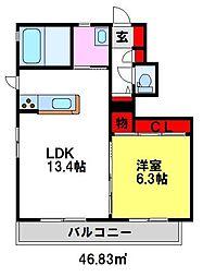 S-ZAKU小倉[A101号室]の間取り