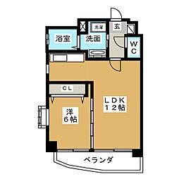 山八第6ビル[7階]の間取り