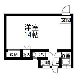 北秋田市綴子 カメリア館[3号室号室]の間取り
