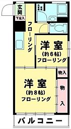 東京都品川区北品川5丁目の賃貸マンションの間取り