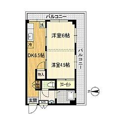 第2竹島ビル[301号室]の間取り