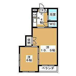 イーグルハイツ小松島II[2階]の間取り