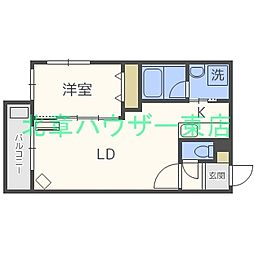 札幌市営東豊線 元町駅 徒歩6分の賃貸マンション 4階1LDKの間取り