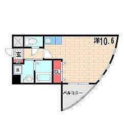 夢の館 3階ワンルームの間取り