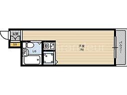 朝日プラザ都島北通タウンルーム[6階]の間取り