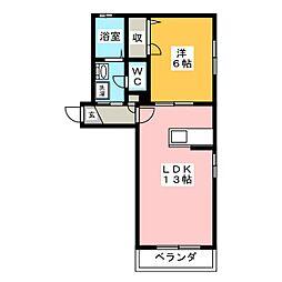 ラ・ヴィータ平井 弐番館[1階]の間取り