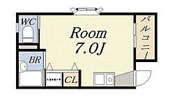 フローラルハウス[2階]の間取り