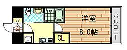 ディナスティ東大阪センターフィールド[203号室]の間取り