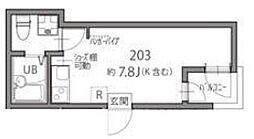 N1-SQUARE ~エヌワンスクエア~ 2階ワンルームの間取り