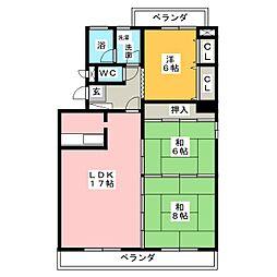 ドムスYS[3階]の間取り