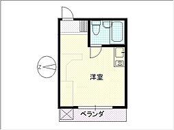 繁楽荘[206号室]の間取り