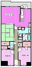 イングス法貴寺[3階]の間取り