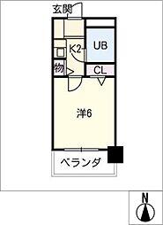 ダイアパレス平針702号室[7階]の間取り