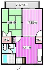 藤山ハイツIII[1階]の間取り