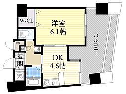 エステムコート新大阪3ステーションプラザ 11階1DKの間取り