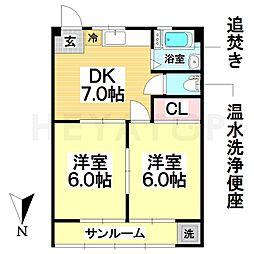 愛知県名古屋市南区菊住2の賃貸マンションの間取り