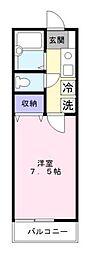 サニーヒル湘南[105号室]の間取り