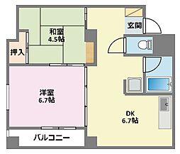 神奈川県横浜市鶴見区生麦5丁目の賃貸マンションの間取り