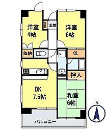 エスアール高崎ビル[4階]の間取り