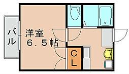 若楠マンション[1階]の間取り