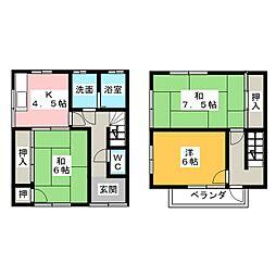 [テラスハウス] 岐阜県美濃加茂市太田本町4丁目 の賃貸【/】の間取り