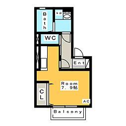 仮 D-room今池[1階]の間取り