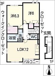 アリュールI[2階]の間取り