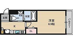 大阪府大阪市東淀川区大桐3丁目の賃貸アパートの間取り