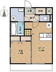 GOLD BAMBOOI[1階]の間取り