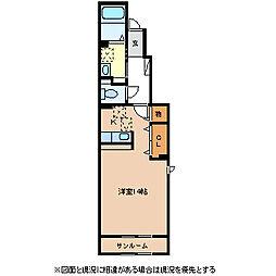 長野県松本市県3丁目の賃貸アパートの間取り