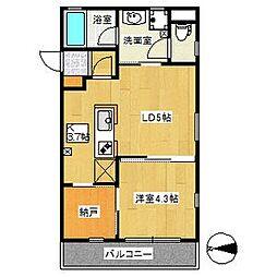 愛知県名古屋市熱田区四番1丁目の賃貸マンションの間取り