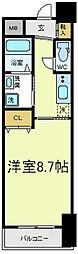 FLAT34上本町[5階]の間取り