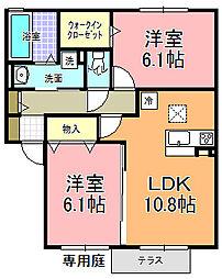 仮)D−room寄井 F[102号室]の間取り