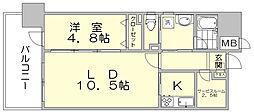 アソシアグロッツォ・タイムズ・スイート博多[14階]の間取り