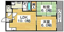 アーバニティ香ケ丘[4階]の間取り