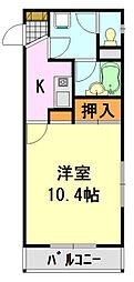 本山マンション[303号室]の間取り
