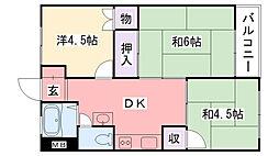 兵庫県西宮市鳴尾町4丁目の賃貸マンションの間取り
