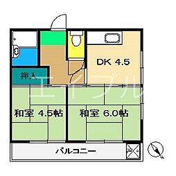 コーポ岬[2階]の間取り
