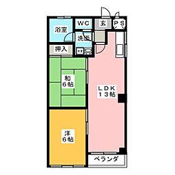扇マンション[2階]の間取り