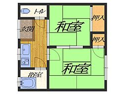 大阪府堺市堺区賑町2丁の賃貸アパートの間取り