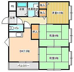 サニーコートI[3階]の間取り